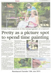 A scan of the Brentwood gazette article july 13th 2011