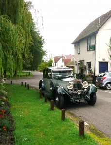 1934 Rolls Royce Phantom 11 outside Megarrys shop and Teashop in Blackmore